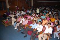 Audience watching stage performance